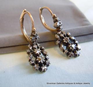 Georgian Regency Diamond Earrings Circa 1790 S